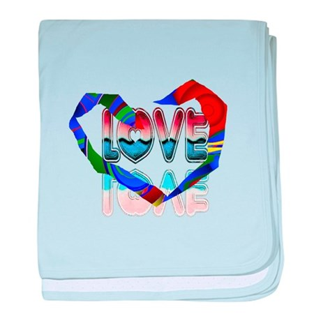 Abstract Love Heart baby blanket