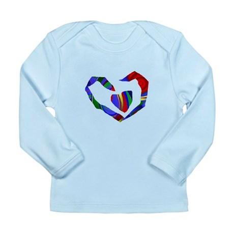 Abstract Heart Long Sleeve Infant T-Shirt