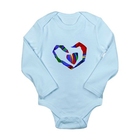 Abstract Heart Long Sleeve Infant Bodysuit