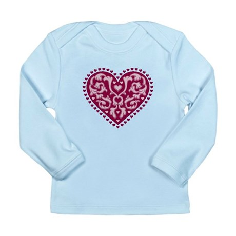 Fancy Heart Long Sleeve Infant T-Shirt