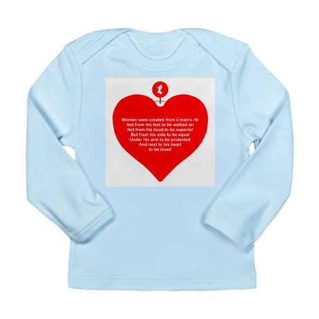 Red Heart Long Sleeve Infant T-Shirt
