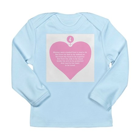 Pink Heart Long Sleeve Infant T-Shirt