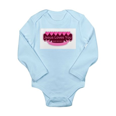 Jesus Loves You Long Sleeve Infant Bodysuit