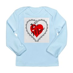 Lacy Heart Long Sleeve Infant T-Shirt