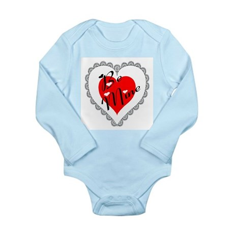 Lacy Heart Long Sleeve Infant Bodysuit