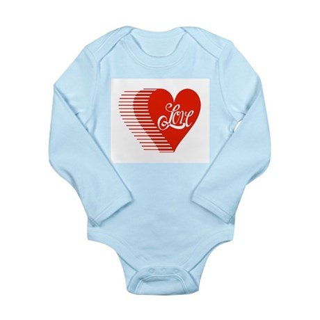 Love Heart Long Sleeve Infant Bodysuit