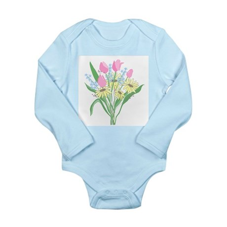 Valentine Bouquet Long Sleeve Infant Bodysuit