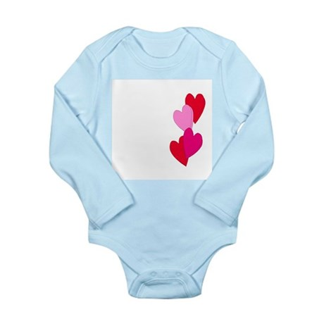 Candy Hearts Long Sleeve Infant Bodysuit