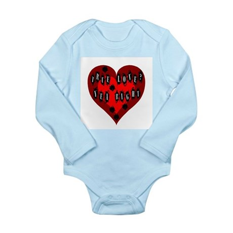 Holes in Heart Long Sleeve Infant Bodysuit
