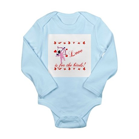 Love is for the Birds Long Sleeve Infant Bodysuit