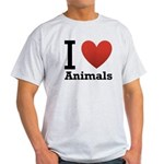 I Love Animals Light T-Shirt