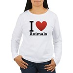 I Love Animals Women's Long Sleeve T-Shirt