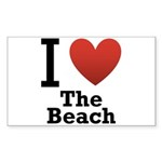 I Love the Beach Sticker (Rectangle 50 pk)