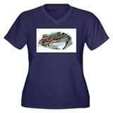 Blue crab Women's Plus Size V-Neck Dark T-Shirt