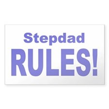 Stepdad Rules! Rectangle Decal