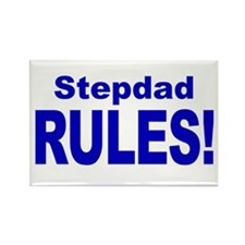 Stepdad Rules! Rectangle Magnet (10 pack)