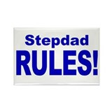 Stepdad Rules! Rectangle Magnet