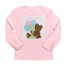 Look Who's One (pink) Long Sleeve Infant T-Shirt