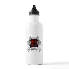 Brown Tartan Shield Water Bottle