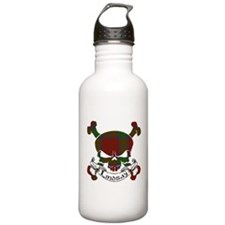 Lindsay Tartan Skull Sports Water Bottle