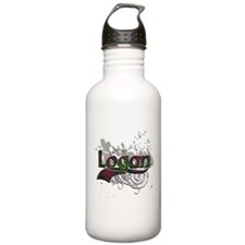 Logan Tartan Grunge Water Bottle