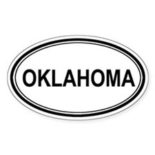 Oklahoma Euro Oval Decal