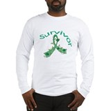 Liver Cancer SurvivorFlower Long Sleeve T-Shirt