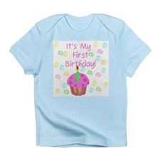 Pink Cupcake 1st Birthday Infant T-Shirt