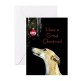 Greyhound christmas Greeting Cards (10 Pack)