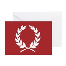 laurel wreath (red): Greeting Cards (Pk of 10)
