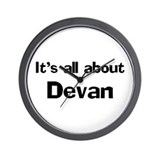 It's all about Devan Wall Clock