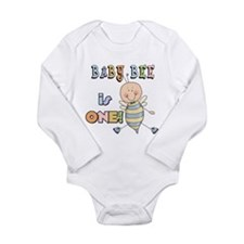 Boy Bee 1st Birthday Long Sleeve Infant Bodysuit