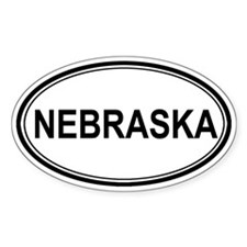 Nebraska Euro Oval Decal