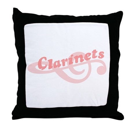 Clarinets Throw Pillow