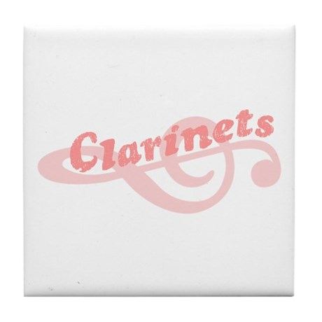 Clarinets Tile Coaster