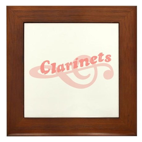 Clarinets Framed Tile