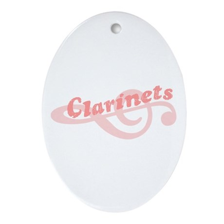 Clarinets Ornament (Oval)