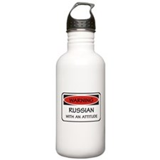 Russian With An Attitude Sports Water Bottle