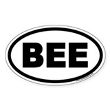 BEE Euro Oval  Aufkleber