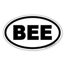 BEE Euro Oval Decal