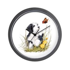 Unique Bearded collie Wall Clock
