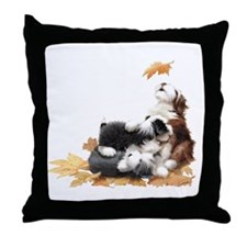 Unique Bearded collie Throw Pillow
