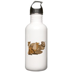 Stylized Beaver Water Bottle