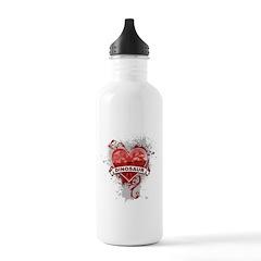 Heart Dinosaur Water Bottle