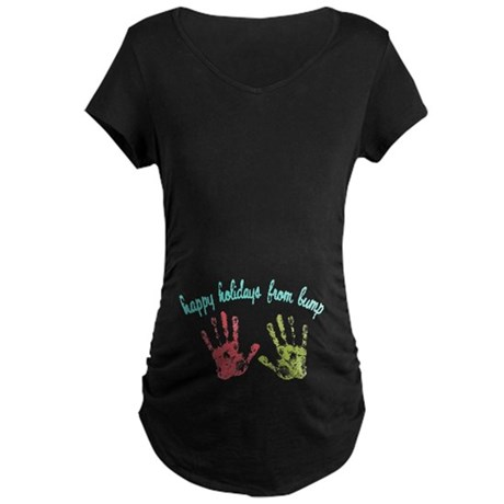 Happy Holidays from Bump Maternity Dark T-Shirt