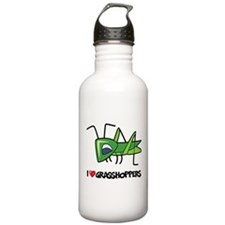 I Love Grasshoppers Water Bottle