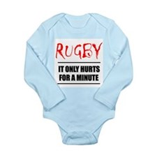 It Only Hurts 1 Rugby Long Sleeve Infant Bodysuit