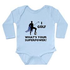 Golf Superhero Long Sleeve Infant Bodysuit