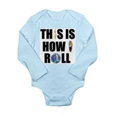 How I Roll Bowling Long Sleeve Infant Bodysuit