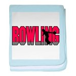 Bowling Nuts baby blanket